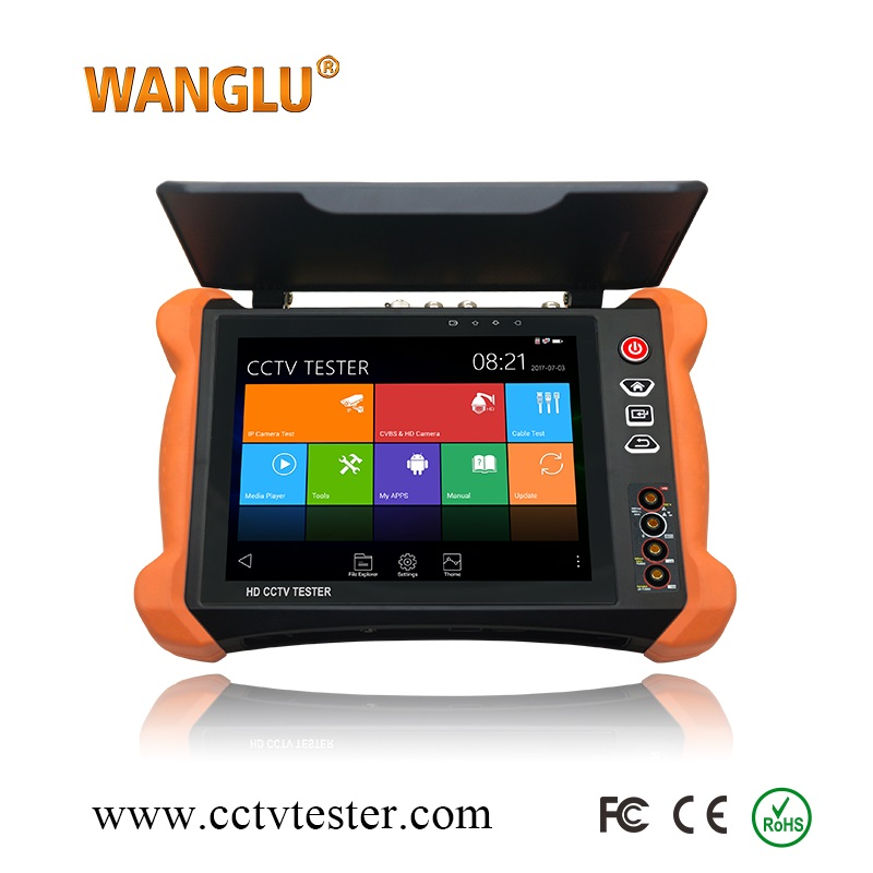 Newest X9-ADHS Android system 4K IP+Analog+AHD+CVI+TVI+EX-SDI 6-in-1 WIFI CCTV tester