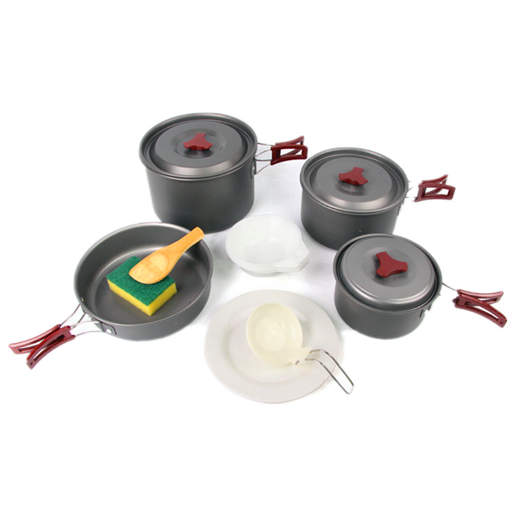 Hight quality non stick outdoor fishing cook set