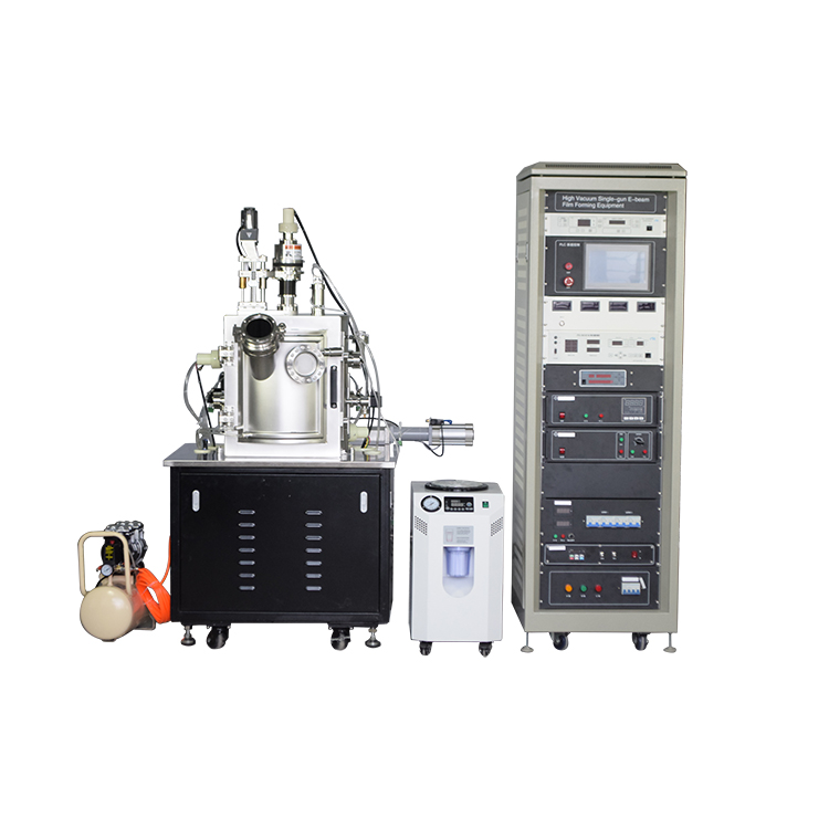 electron beam evaporation coater for evaporating various refractory metal materials