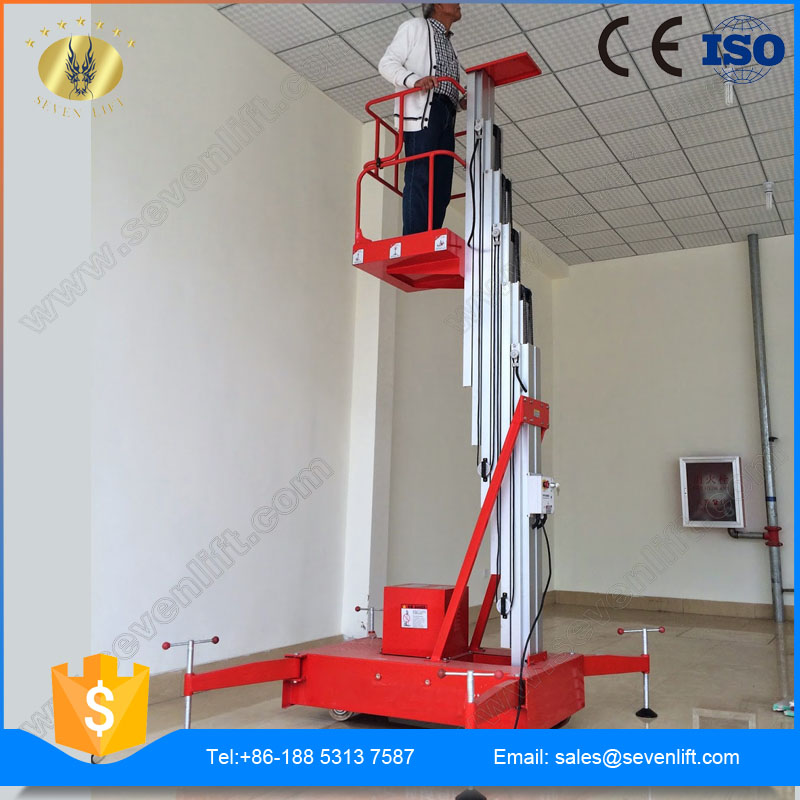 7LSJLI Shandong SevenLift mobile hydraulic electric ladder lift for 1 person