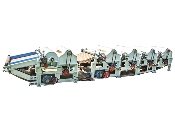 SBT400+250 four rollers textile/ fabric cotton waste recycling machine