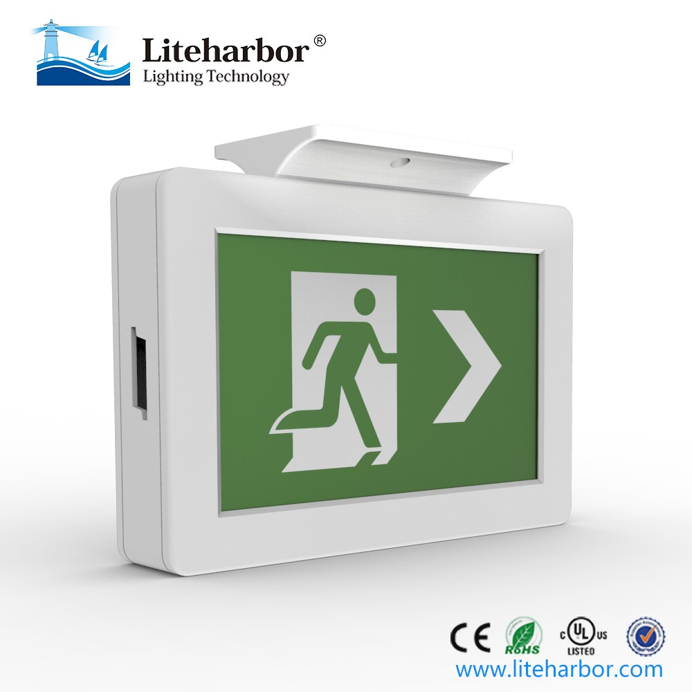 6VDC/12VDC/24VDC ABS LED Running Man Emergency Exit Sign Light