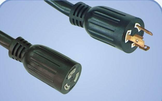 self-locking power supply cord
