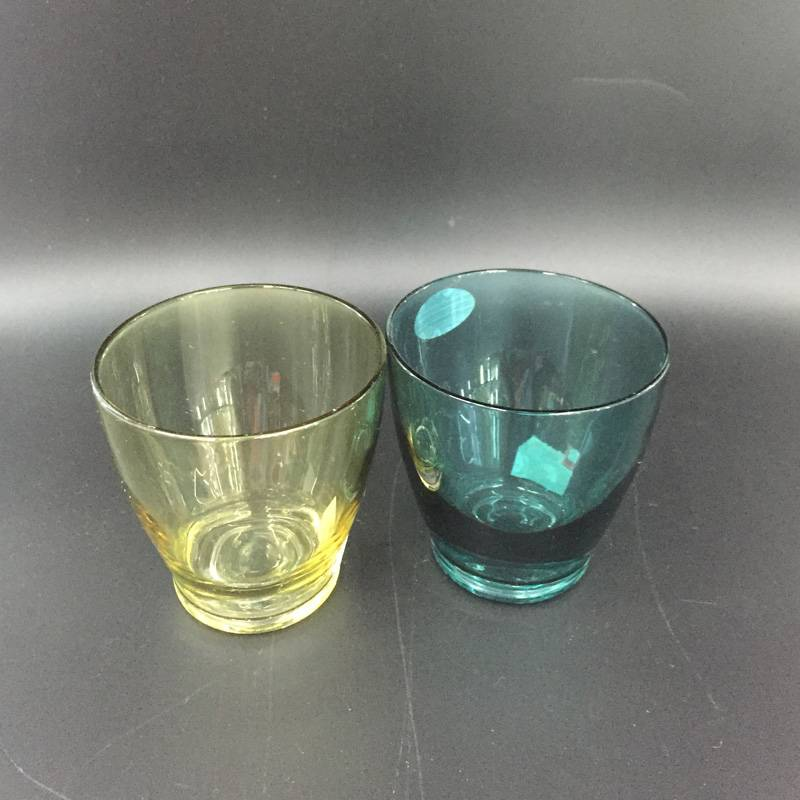 High quality waterware Glass cup glass tumbler wine glass drinking glass colorful glass