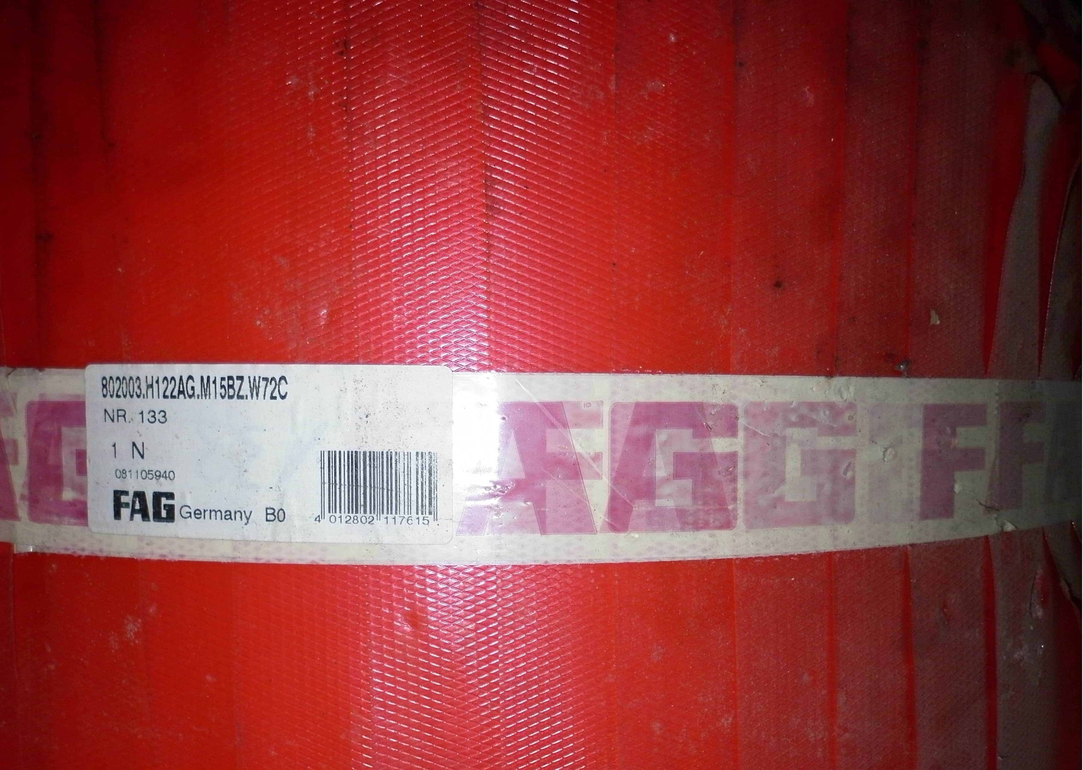 FAG 802003.H 122 AG.M15BZ.W72C Taper Roller Bearing Four Row