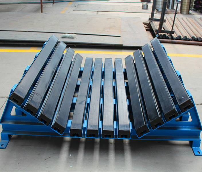 Impact bed with PU Impact Bar for belt Conveyor