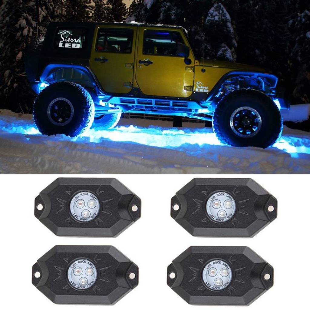 NEW! LED Rock Light, angel eyes all for HKWL3003C,nternal drive and RGB Bluetooth ,car headlight,Wes