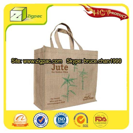 Economical VIP grade and special approved biodegradable jute bag