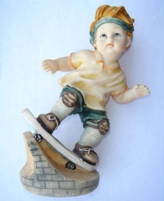 Polyresin Boy Statue
