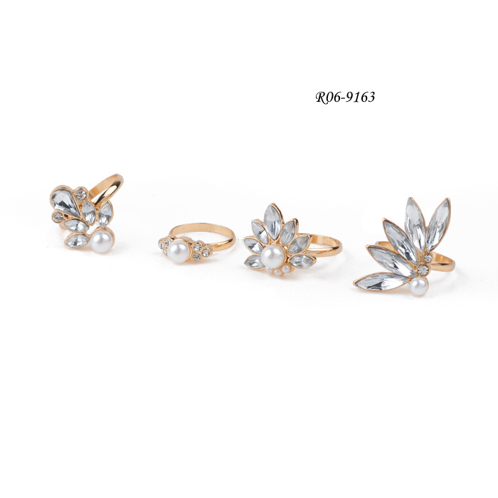Ring Set R06-9163  Rhinestone Ring Set    metal alloy rings  fashion ring sets