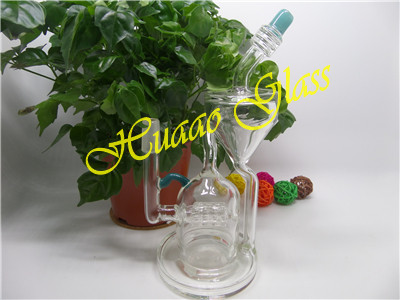 7.5 inches External circulation glass water pipe handmade high borosilicate glass clean and green