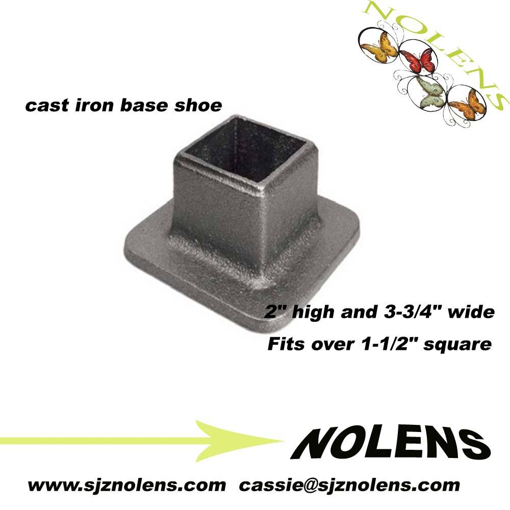 "Cast Iron Base Shoe for 1-1/2"" Square Bar"