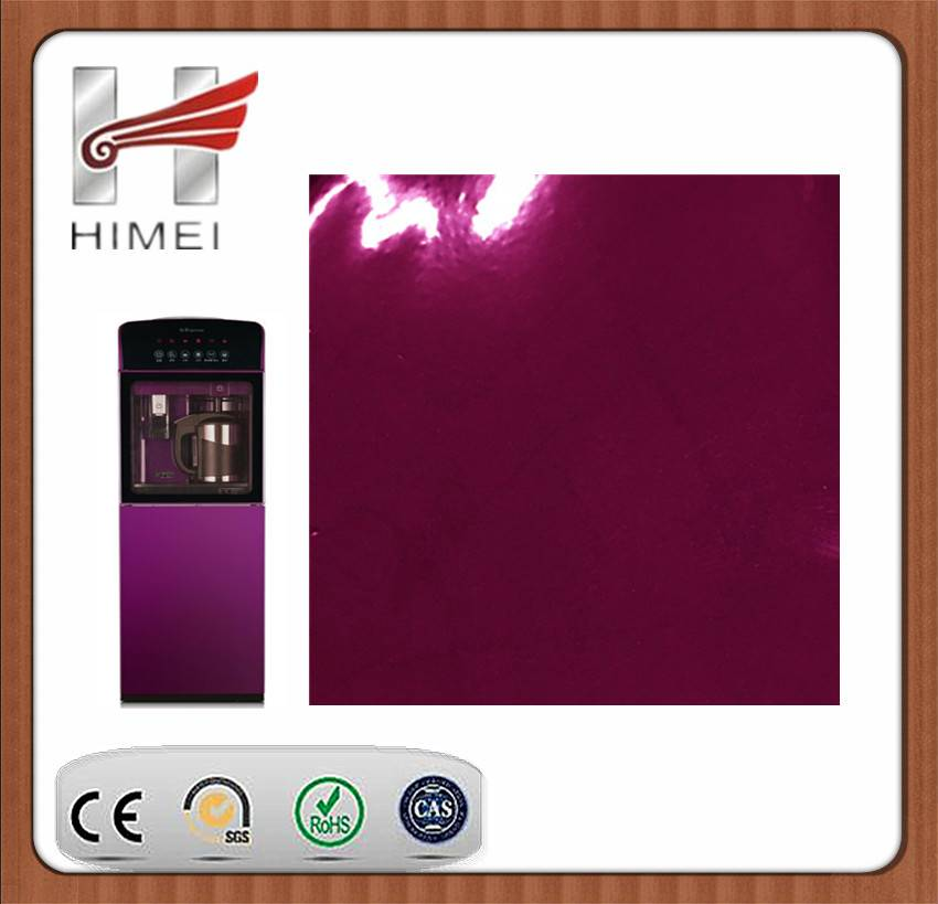 VCM colored film steel sheet for water dispenser