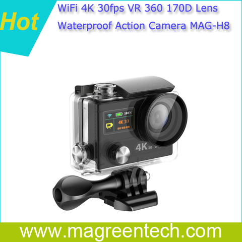 H8 WiFi 4K 30fps action camera sports camera camcorder SONY 170degree lens high quality as Go Pro