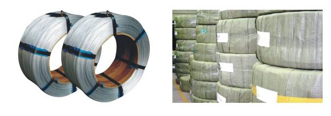 Galvanize wire for power industry pre-twisted steel wire