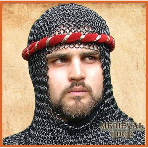 Chainmail Coif - Black