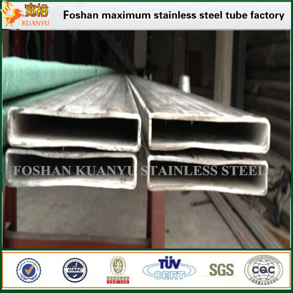 stainless steel flat rectangular tubing