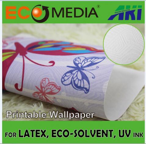 AKI 026 anaglypta autumn leaf texture blank vinyl wallpaper for printing