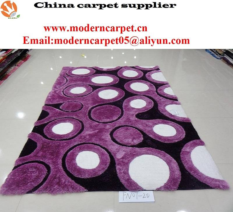 3d polyester shaggy carpets and rugs