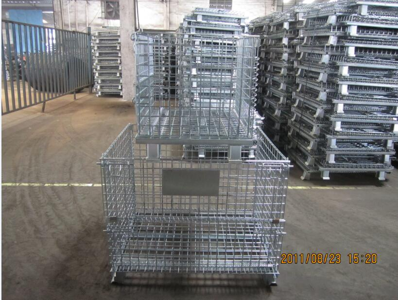 folding steel storage cage(professional manufacturer)