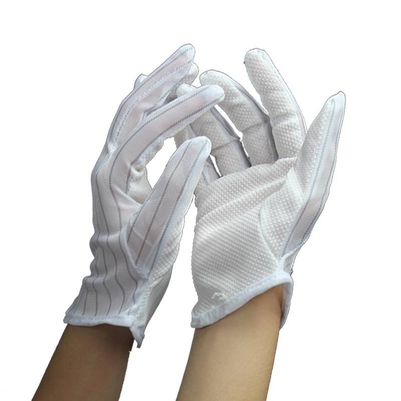Anti-slip Conductive Fiber Anti Static Dotted Gloves S/M/L China Supplier