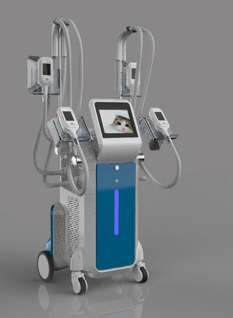 4 Cryolipolysis handles work at the same time! Hot new product body slimming cool body sculpting mac