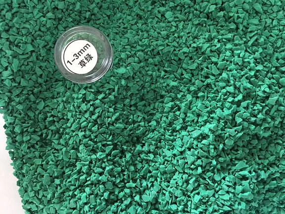 Long-lasting weather-resistant EPDM rubber granule for playground theme