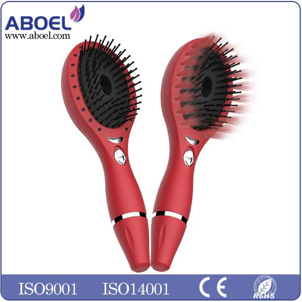 Battery Operated Ionic Hair Brush , Portable Female Hair Care Comb