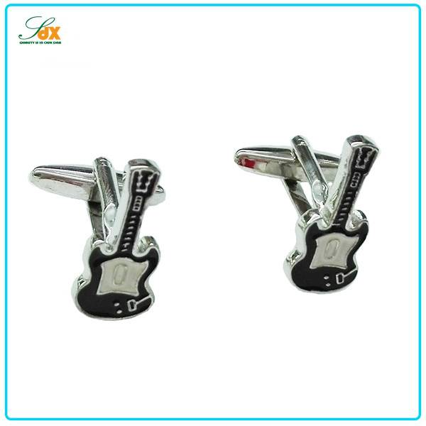 High Quality Fashion Custom Plated Guitar Cufflinks
