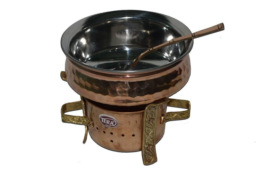 Raghav India 100% Genuine Copper Handi +Copper Tawa