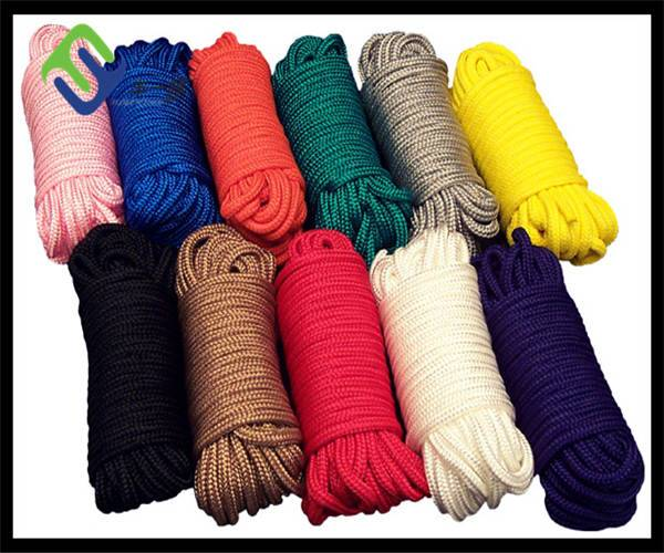Double braided nylon rope with various color