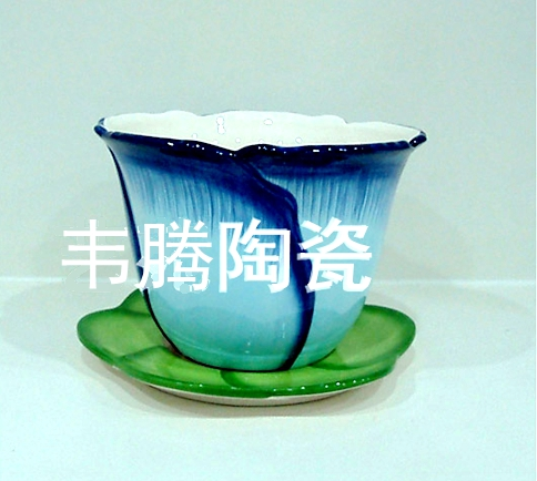 2017 wholesale ceramic flower pot and saucer planter MT-12