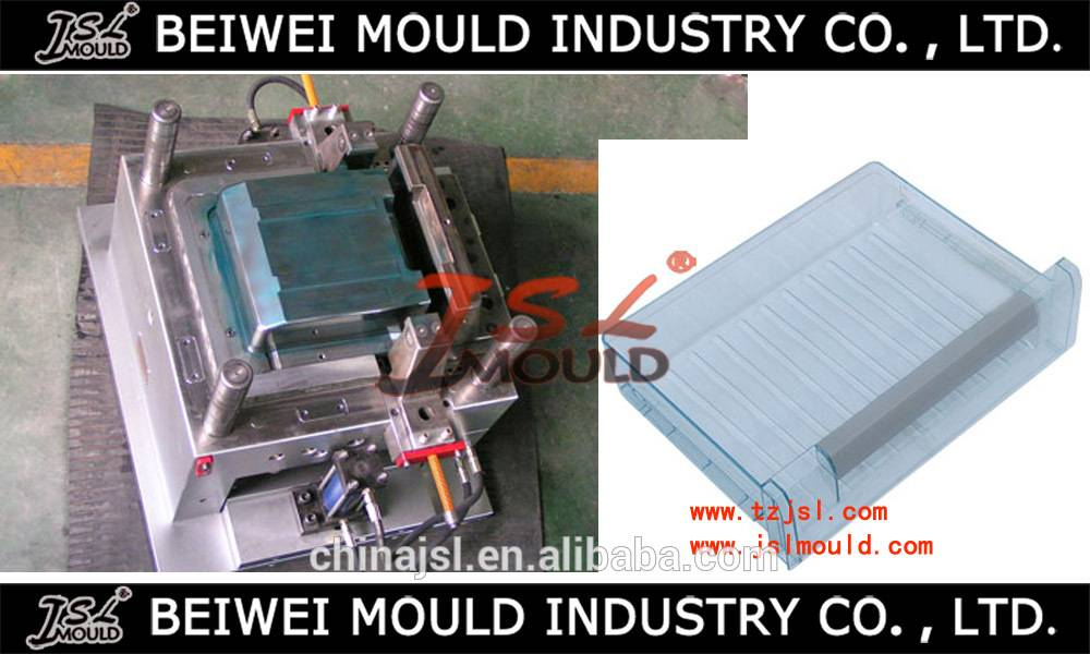 OEM Custom Injection Plastic Fridge Drawer Mould