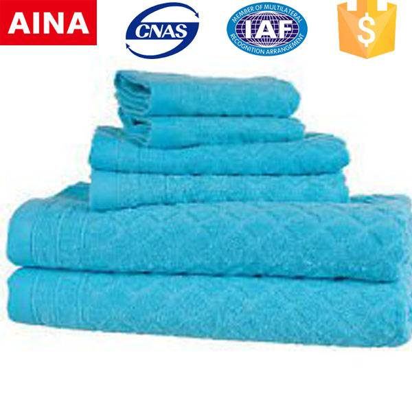 China Top 10 Towels' supplier antibacterial Dobby Jacquard weave white hand towel