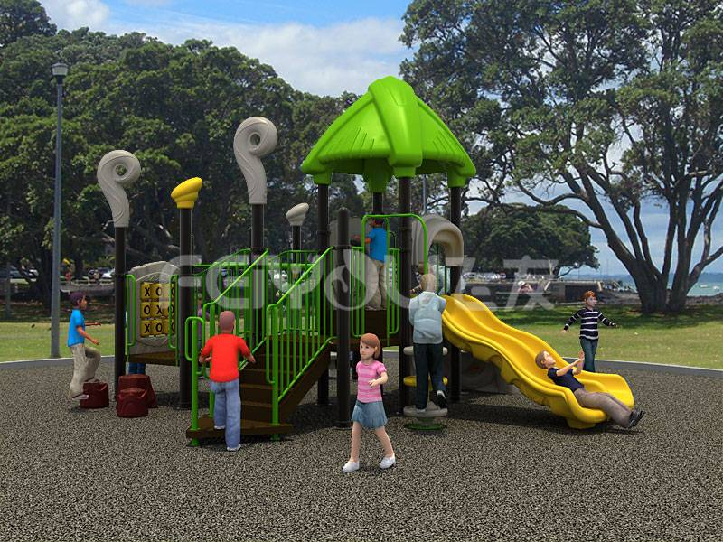 Children outdoor playground slide equipment