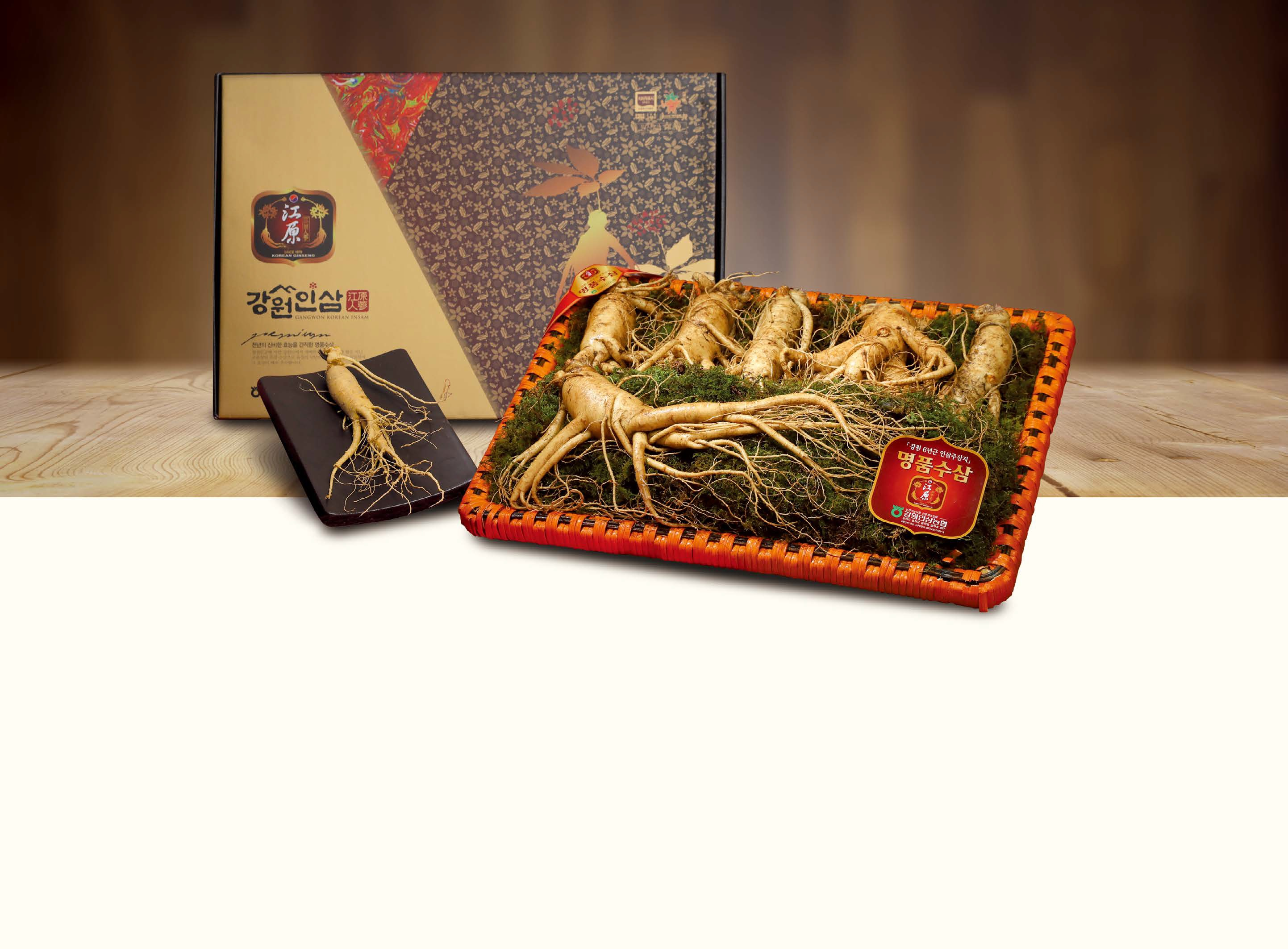 High quality ginseng from Gangwon-do in Korea