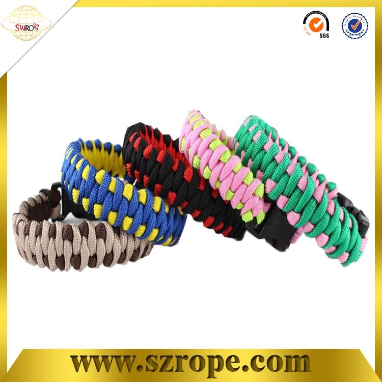 fashion outdoor colorful paracord bracelet/braided bracelets