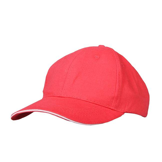 Red Cotton Embroidered Headwear Sport Baseball Caps