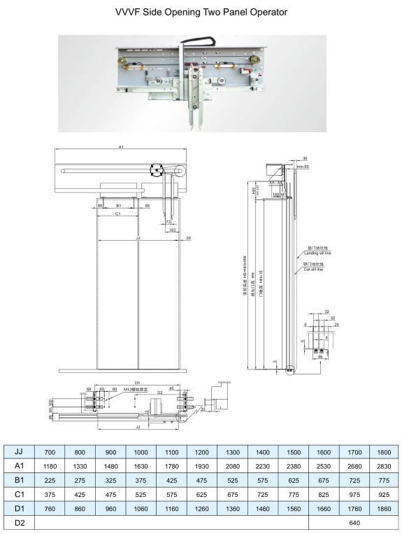 VVVF Elevator Car Door System