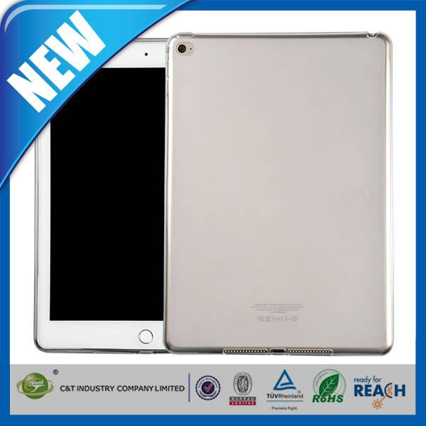 C&T Newest Simple Style transparent tpu skin cover for ipad air2