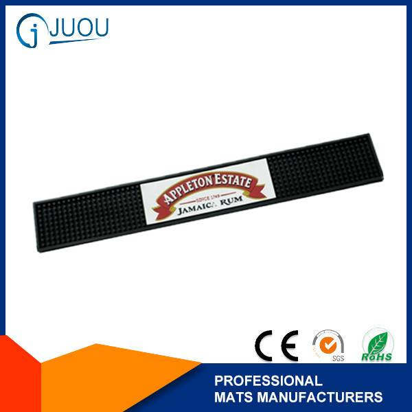 Promotional branded 3d logo bar rail mats
