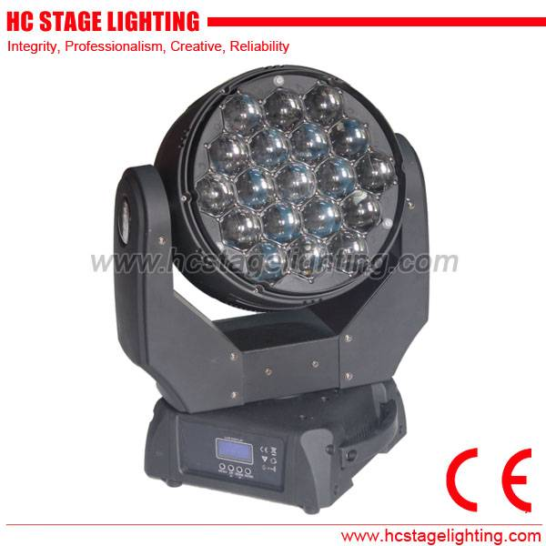 new stage lights 19x15 4in1 rgbw dmx zoom beam led moving head