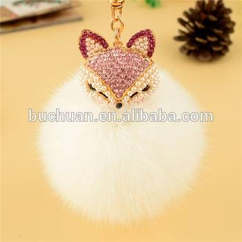 2016 Fashion genuine fox fur garment accessory pom pom fur balls