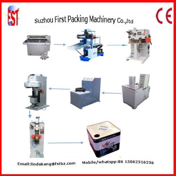 15kg 18liter square can making machine production line