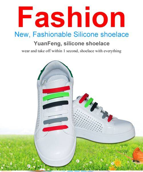 No Tie Shoelaces Easy Tie Elastic Silicone Shoe Laces for Kids
