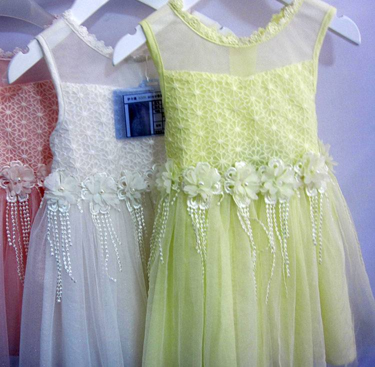 Girls Wear Elegant Sleeveless Cute Baby Clothes Lace Tassels Kids Summer Dresses MY323