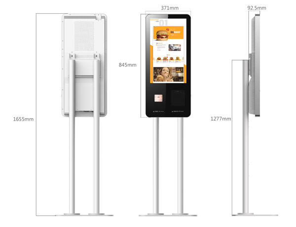 """Support face payment camera 24"""" self-service terminal touch screen kiosk"""