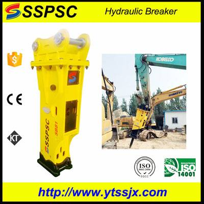 Top grade box-silenced hydraulic rock breaker SSPSC SB81 for excavator backhoe loader skid steer