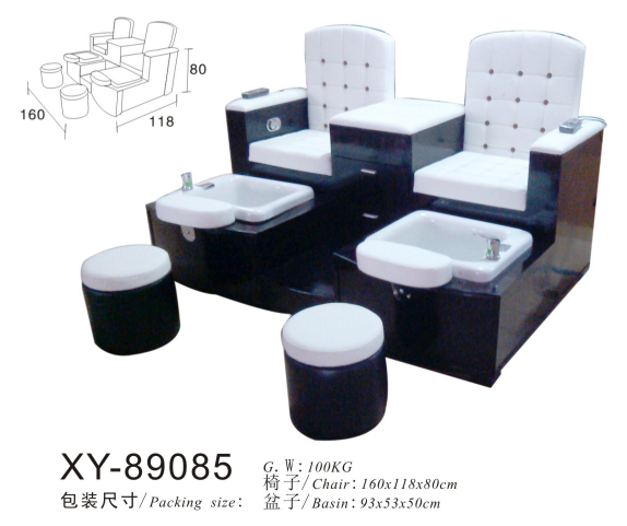 Double Seats Salon Spa Pedicure Chair Foot Massage XY-89085