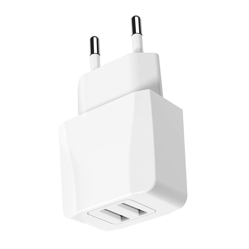 Dual USB 5V 2.4A AC Phone Wall Charger